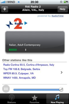 Radio2 su iPhone