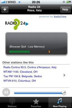 Radio 24 su iPhone